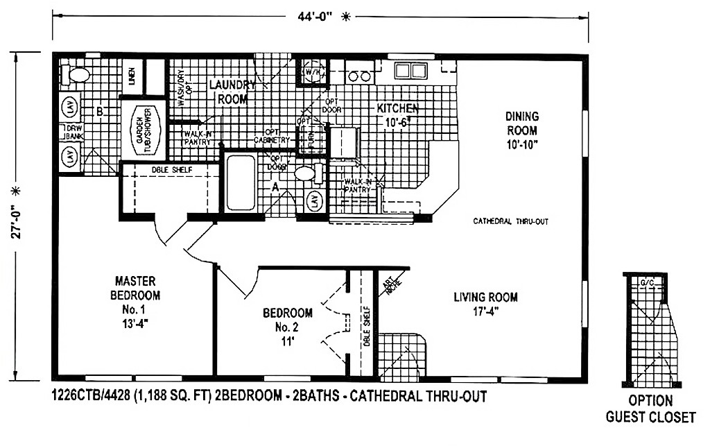 17 best 1000 ideas about mobile home floor plans on for 4 bedroom mobile home floor plans