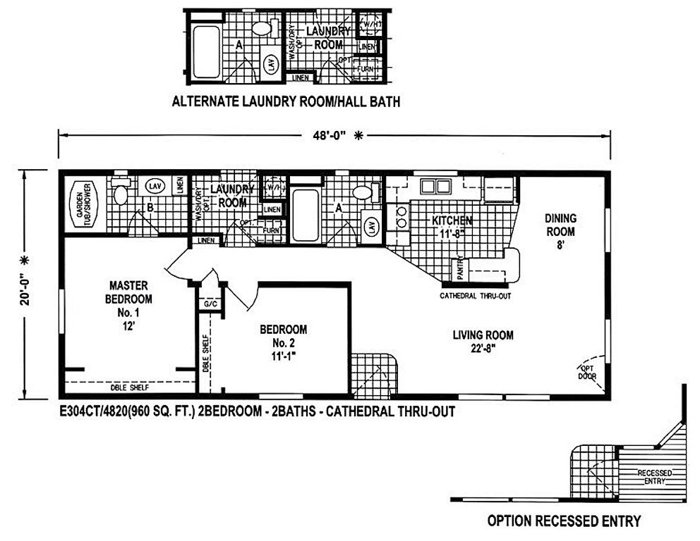 20x48 house plan joy studio design gallery best design for Home models and prices